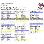 Razpored tekem članov za pomlad 201112 1