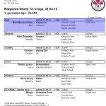 Razpored tekem članov za pomlad 201112 2